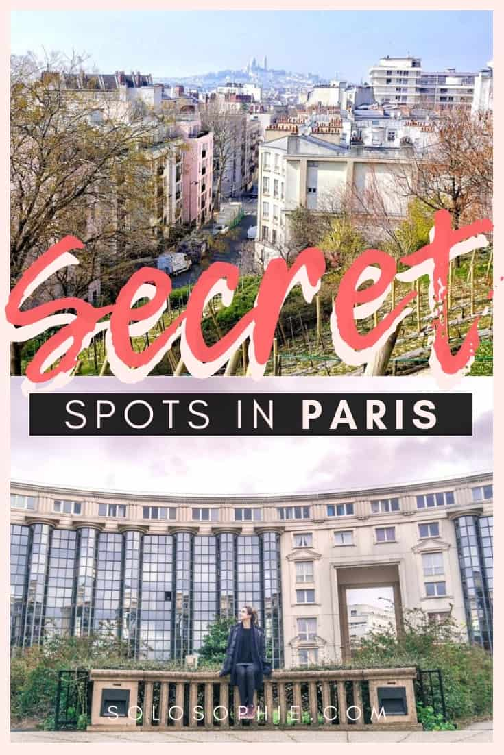 Hidden gems and secret spots in Paris, France. Here's your guide to non touristy and unusual things to do in the City of Light (Parisian museums and monuments!)