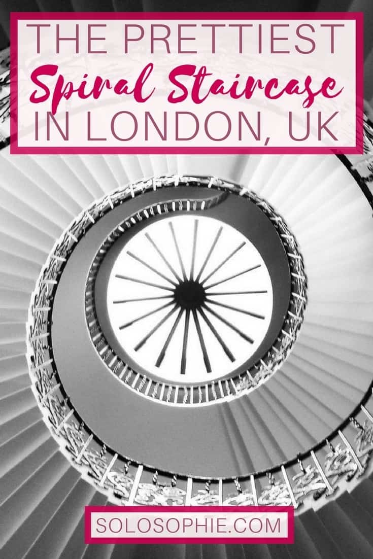Is this the prettiest spiral staircase in London, England? A visit to the Tulip Stairs in Greenwich, London, England!
