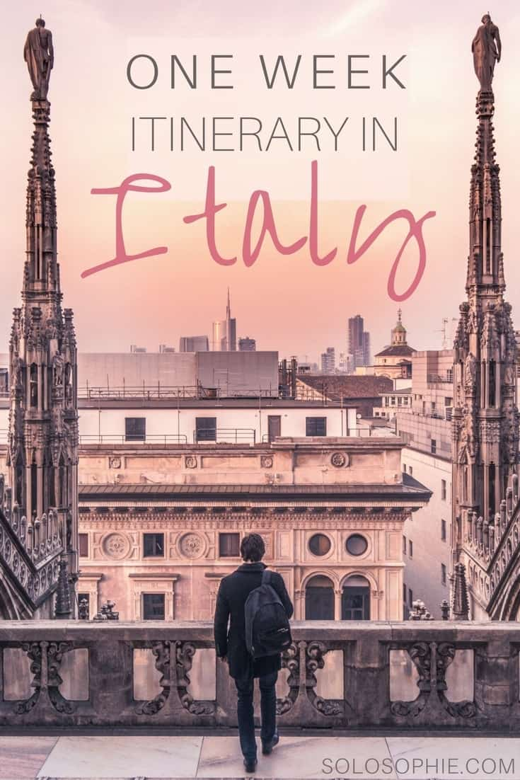 One Week in Italy: 7 perfect days in Northern Italy travel itinerary. Pavia, Turin, Bergamo and Milan trip ideas and where to visit on your European adventure!
