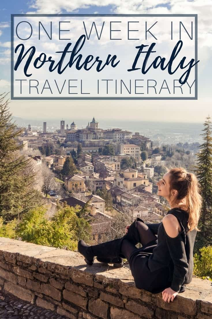 One week in Northern Italy Travel Itinerary you should follow: towns and historic cities you must see in Italy include Turin, Pavia, Milan and Bergamo