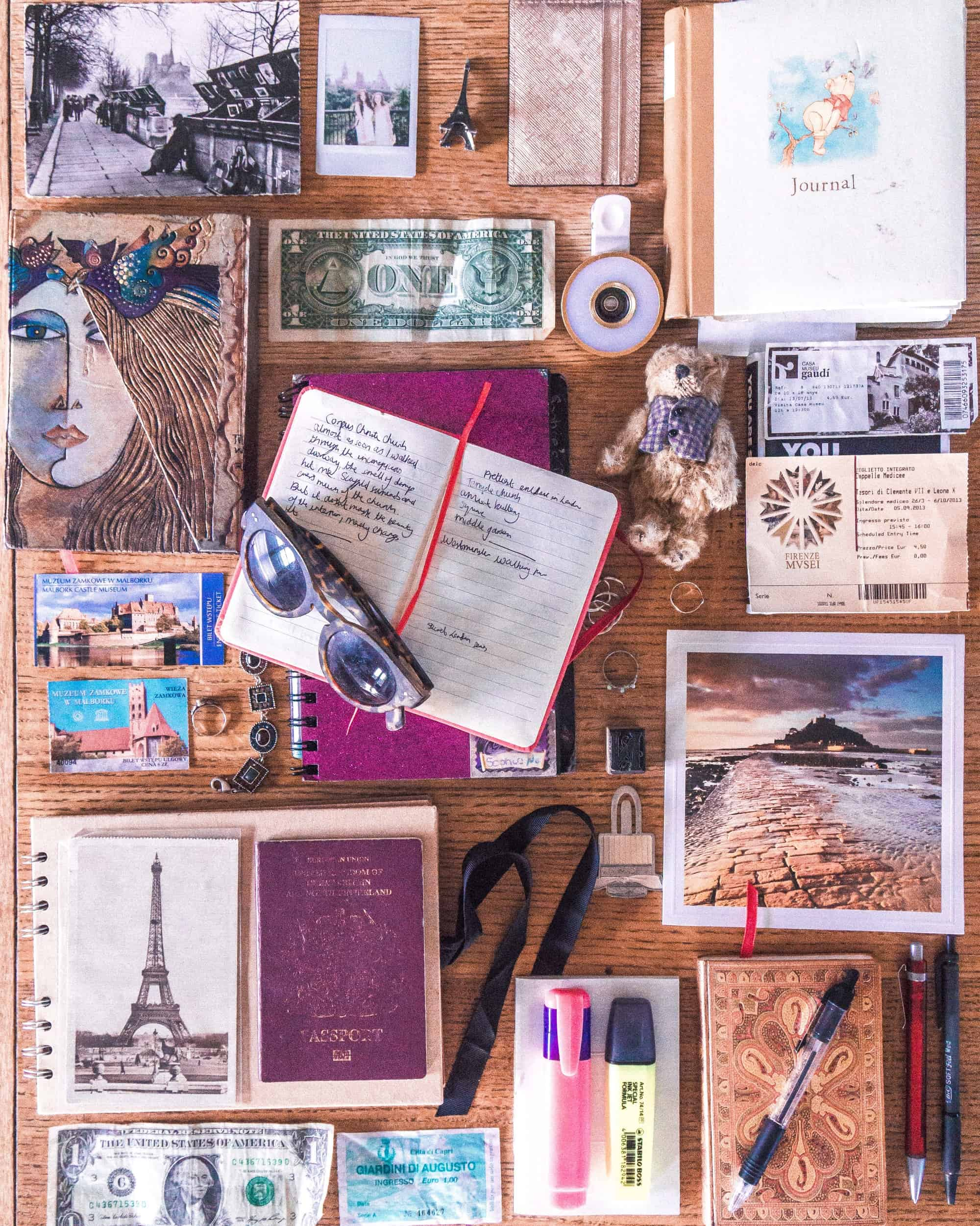Travel Journal Ideas and Inspiration: tips tricks and practical advice for creating you voyage diary. Travel Journalling and Bullet Journal ideas for beginners!