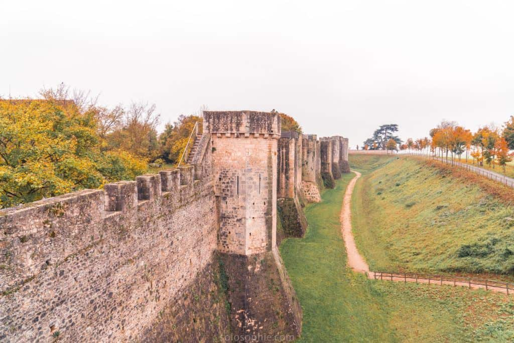 Provins to Paris: a medieval city day trip from Paris, France for if you love history and architecture. Day trip from Paris to the Île de France region: medieval ramparts