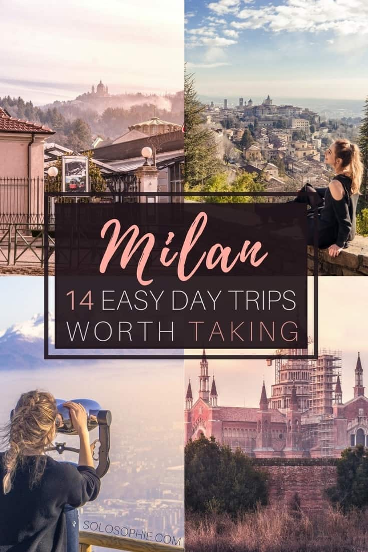 14 Day Trips From Milan worth taking: medieval towns & lakes in Northern Italy. Here are the very best towns, cities and historic sites that are easy to reach from Milan!