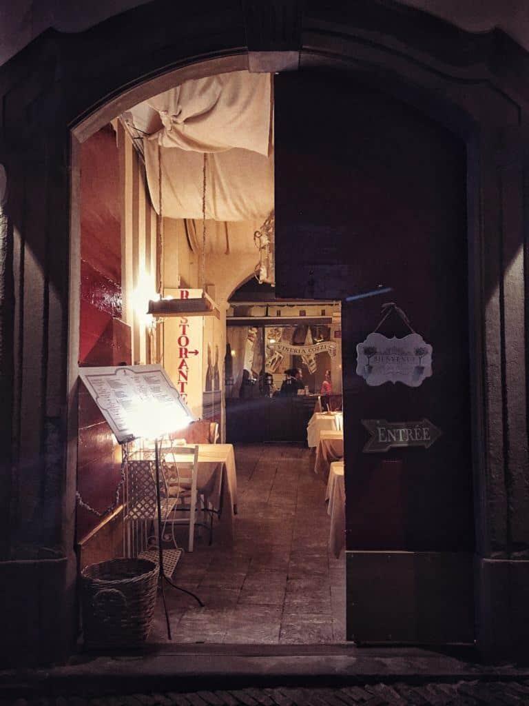 Il Circolino: Dining in an Old Prison in the Heart of Bergamo, Italy: entrance