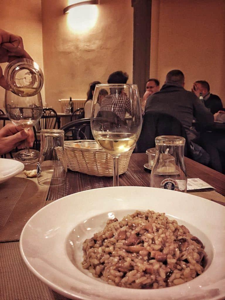 Il Circolino: Dining in an Old Prison in the Heart of Bergamo, Italy: risotto