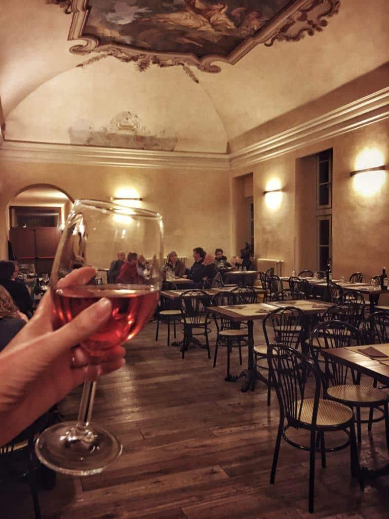 Il Circolino: Dining in an Old Prison in the Heart of Bergamo, Italy: wine