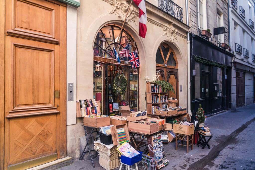 The Abbey Bookshop, Latin Quarter, Paris, France: façade