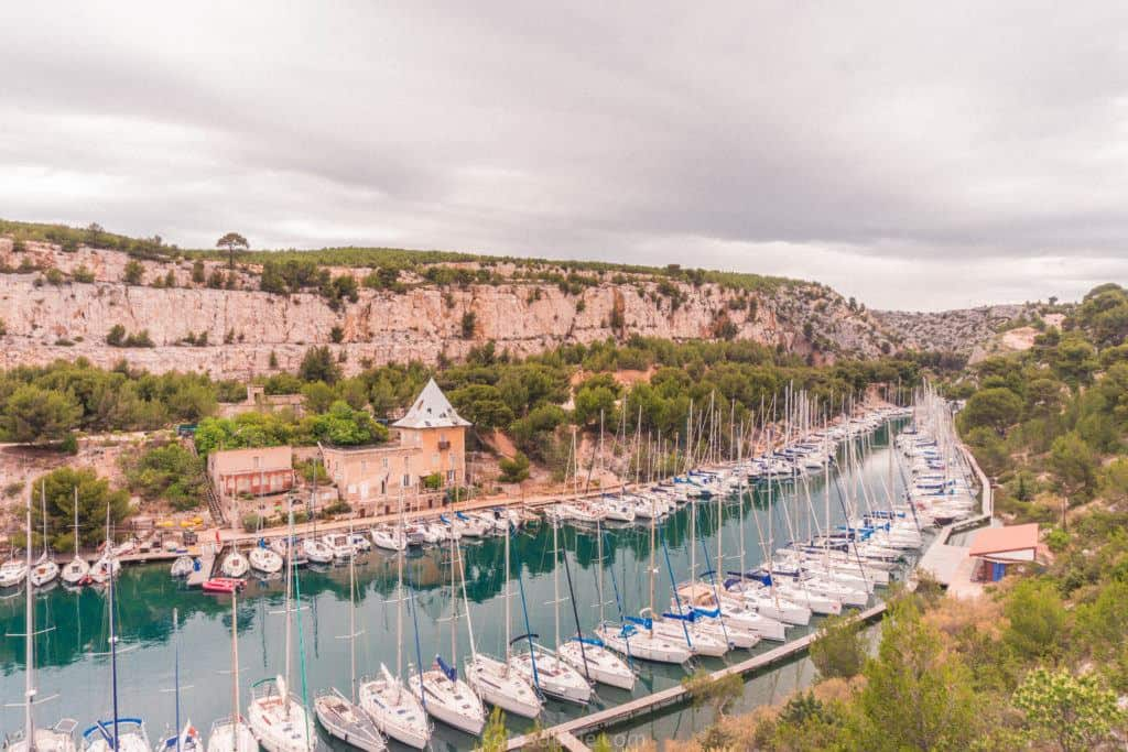 Adventure in Provence, Southern France: hiking the calanques de Cassis in a National Park: secret harbour