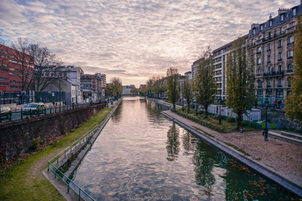 Canal Saint Martin Neighbourhood Guide: Things to do in the 10e arrondissement of Paris, France: sunset and reflections on the water