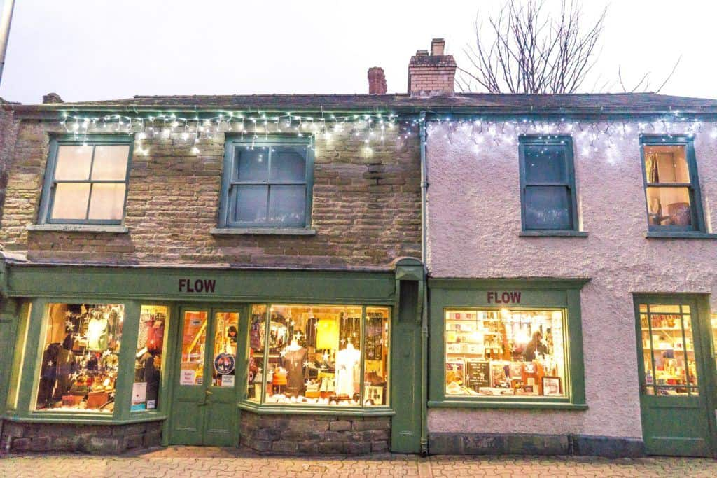 Hay-on-Wye guide, a book town for bibliophiles in South Wales: antique and gift shop