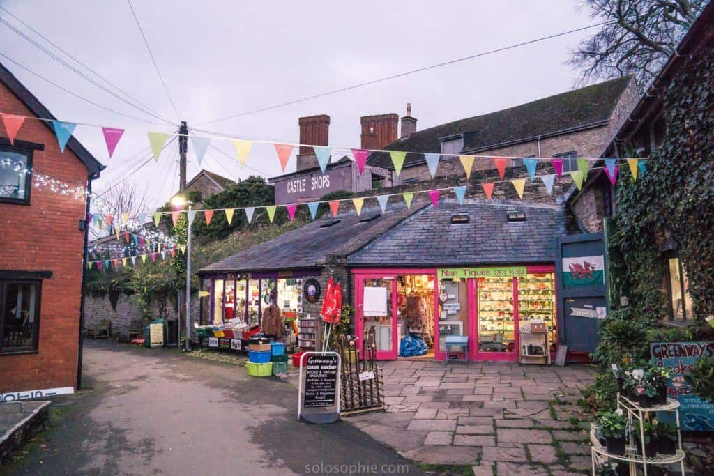 Hay-on-Wye guide, a book town for bibliophiles in South Wales: centre of town