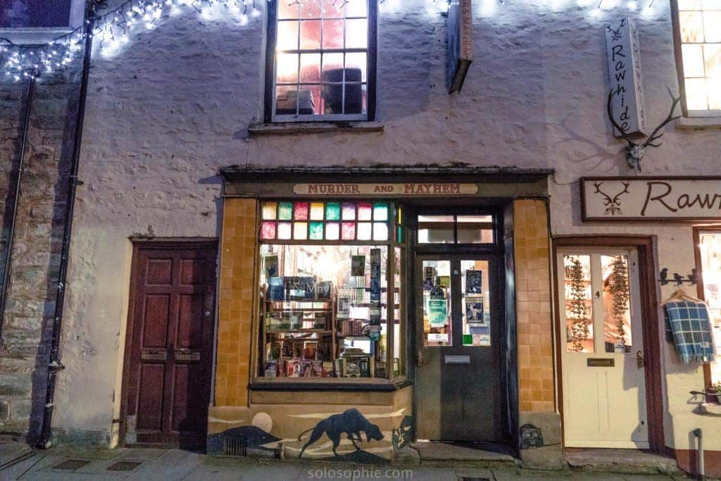 Hay-on-Wye guide, a book town for bibliophiles in South Wales: murder and mayhem
