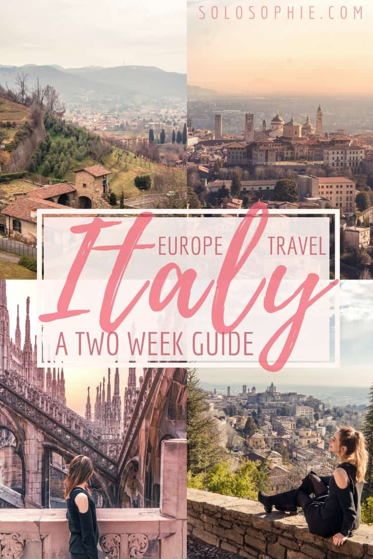 2 Weeks in Italy Itinerary: Your ultimate Italian Highlights 14 day travel guide for where to go and when. The best Italian cities and towns to visit during just a couple of weeks in Europe!