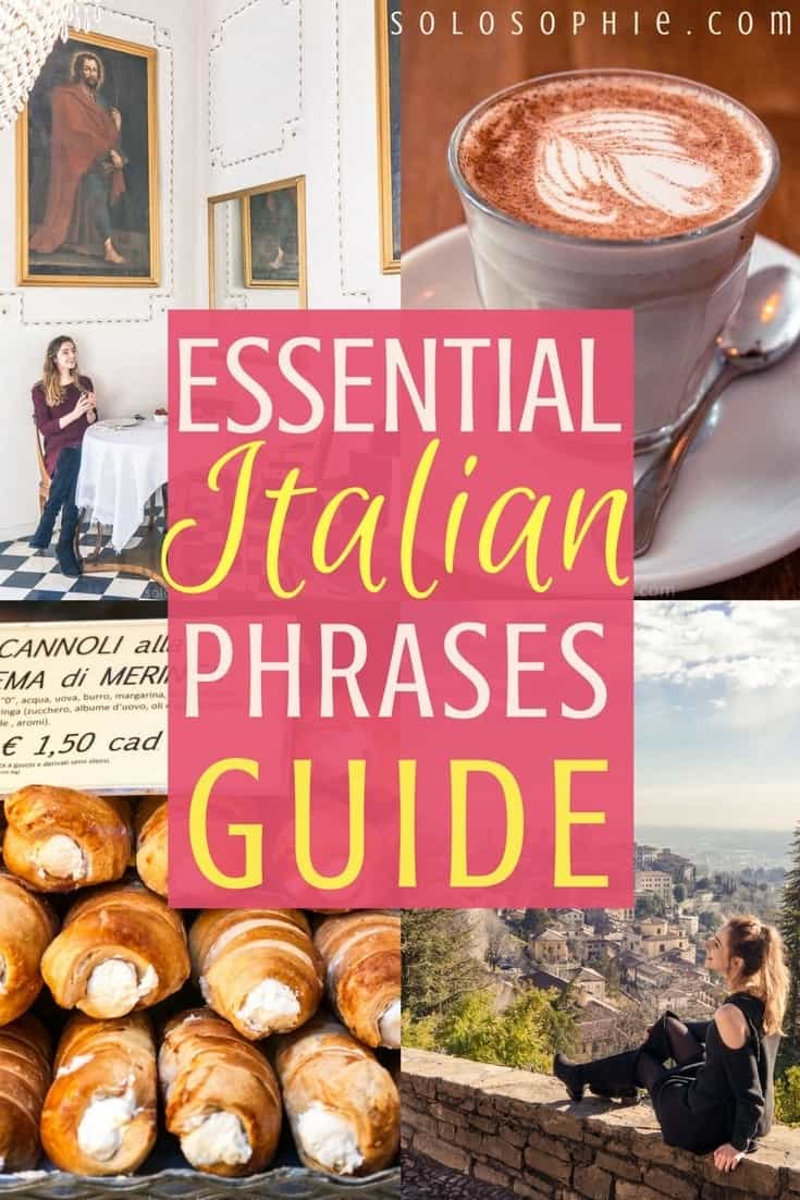Essential Italian Phrases guide: words and greetings you simply must known in the Italian language. How to say thank you in Italian, Sorry in Italian and more!