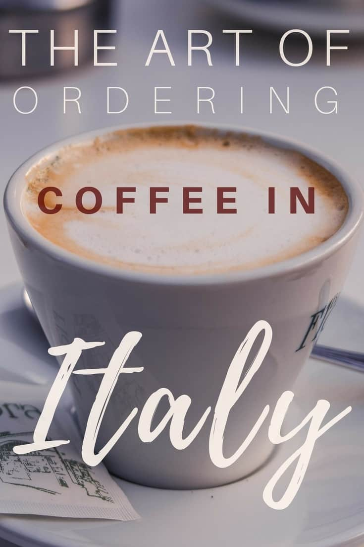 The art of ordering coffee in Italy: tips, tricks and practical advice on how to get a caffeinated drink in the European country. Vocabulary for coffee and types of beverages available!