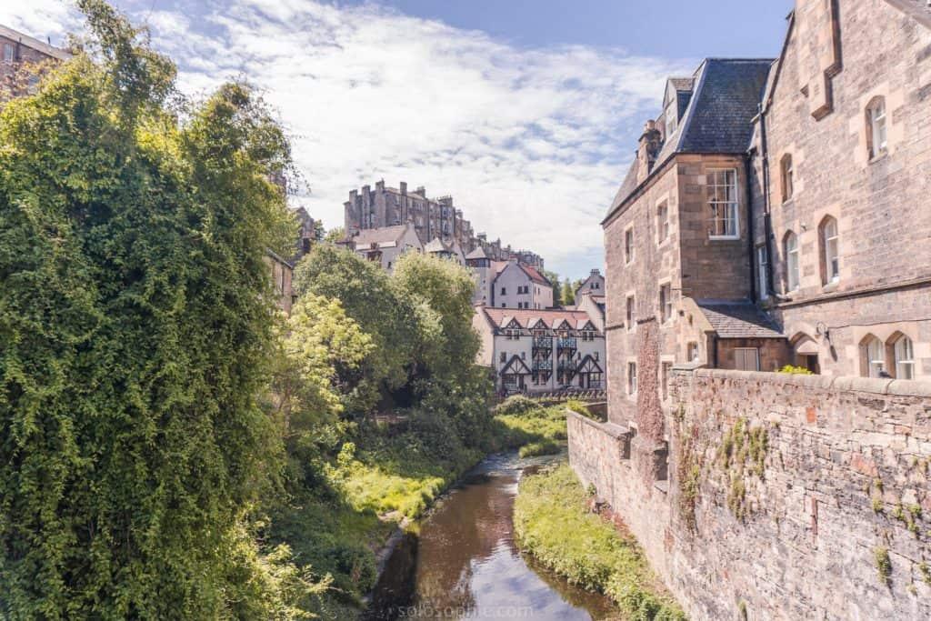 Dean Village, a pretty hidden gem in Edinburgh, Scotland