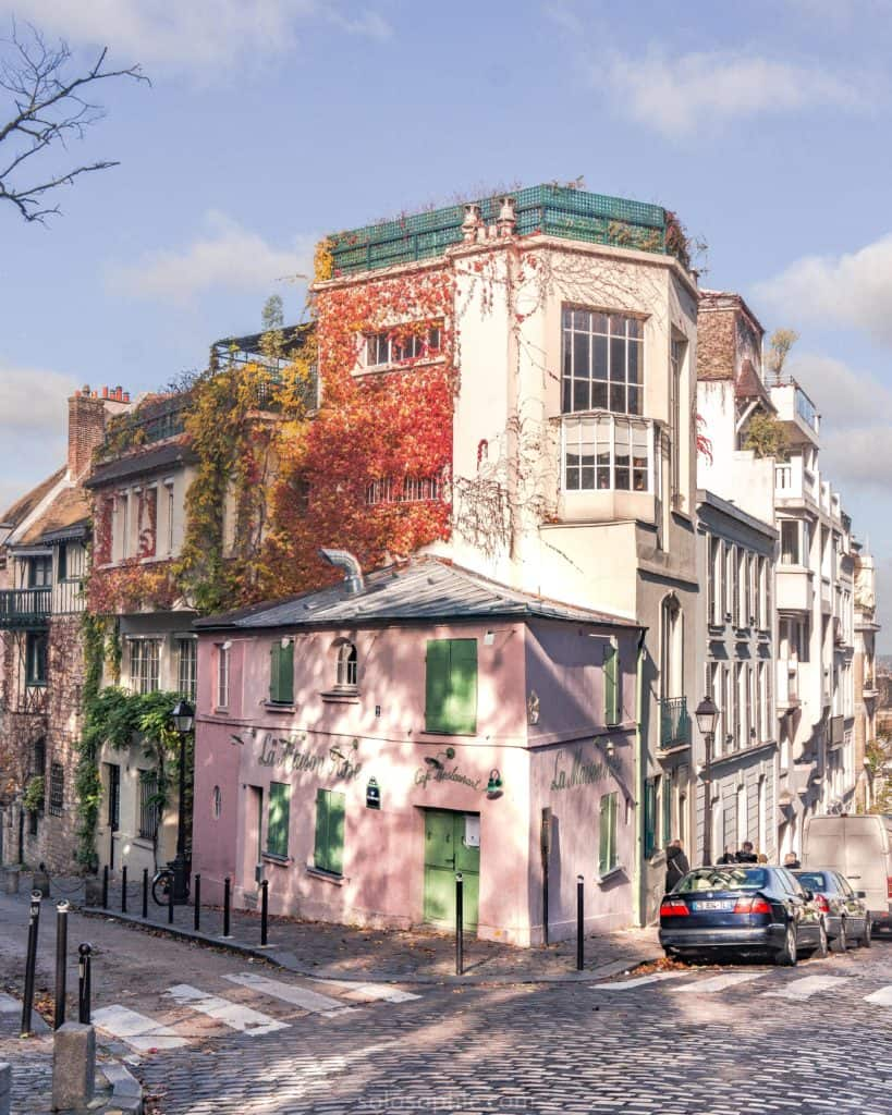 La Maison Rose: a pretty café in the heart of Montmartre, Paris, France