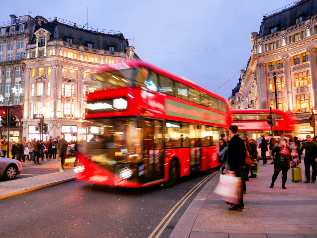 red bus london england