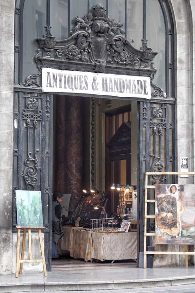 Antiquities market at Bazar, Bucharest, Romania