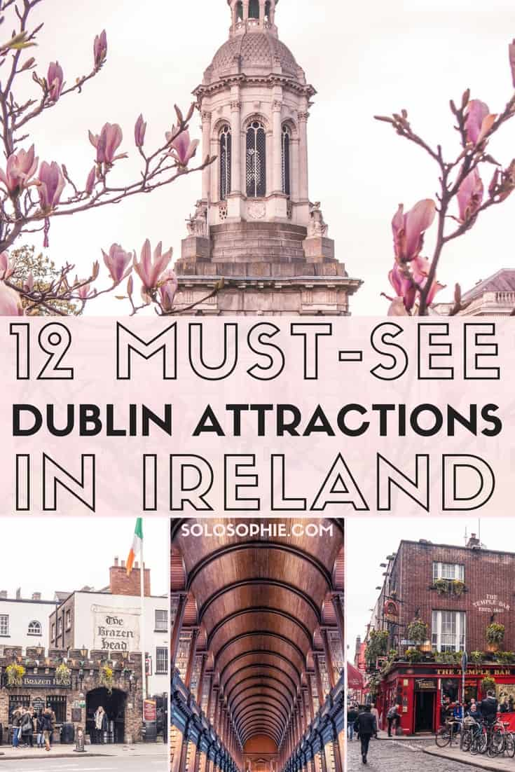 12 must-see Dublin Attractions you won't want to miss on any visit to the Irish capital. Iconic places to visit including Trinity College Dublin, Ha'Penny Bridge, and the Guinness Storehouse, Dublin, Ireland bucket list!