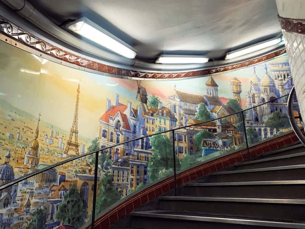 Art of Abbesses metro station