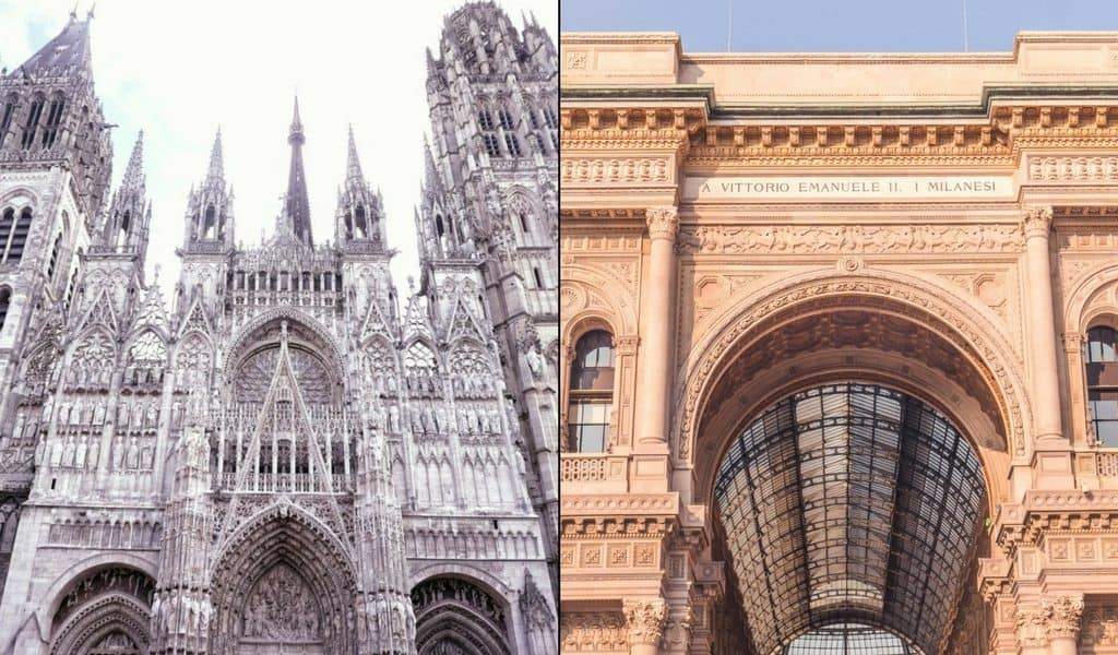 France vs Italy: Which should you visit? Rouen & Milan.