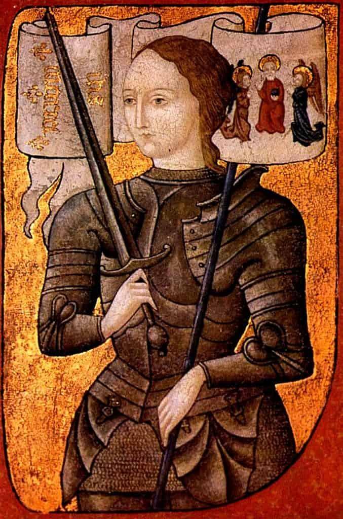 15th-century miniature of joan of arc