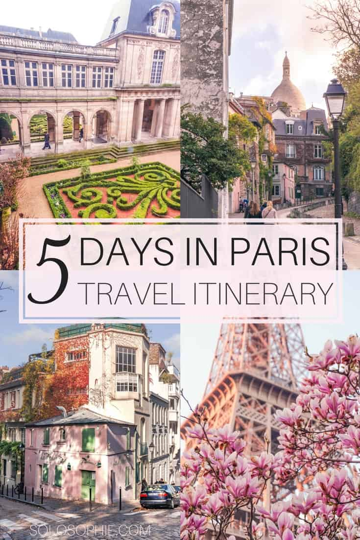 Your Ultimate Guide on How to Spend the Perfect 5 Days in Paris Travel Itinerary. Best day trips, arrondissements and things to do during five days in Paris, France.