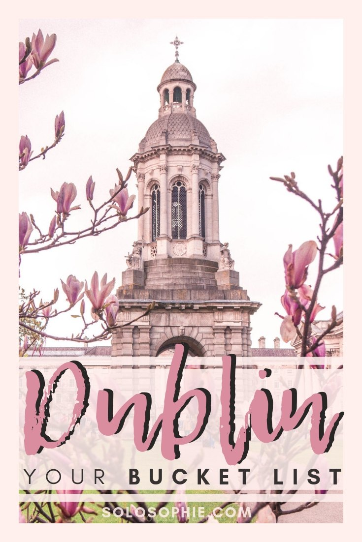Your ultimate Dublin Bucket List for the perfect getaway- here's a guide to everything you should see, do, visit, stay and eat in the capital of the Republic of Ireland on your next European adventure!
