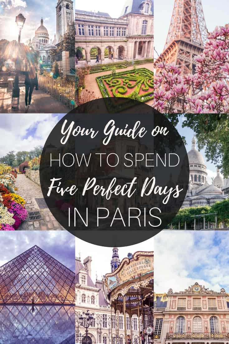 Your ultimate guide and itinerary on how to spend five days in Paris, France. Where you should go, what to eat, the best day trips from the French capital and more!