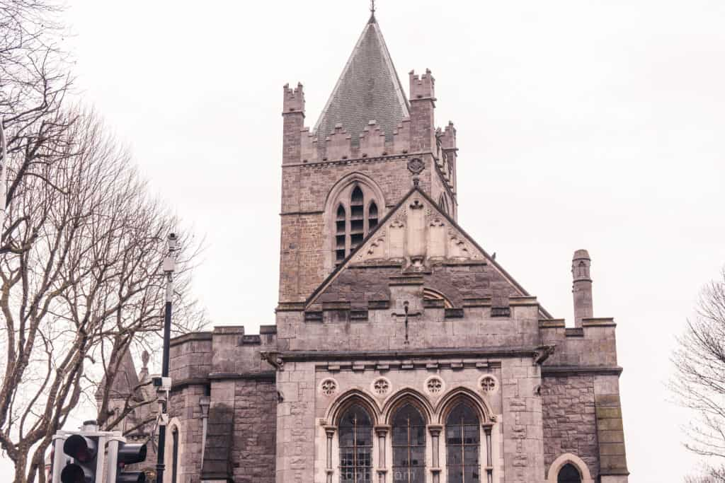 Christ Church Cathedral, oldest ecclesiastical building in Dublin, Ireland