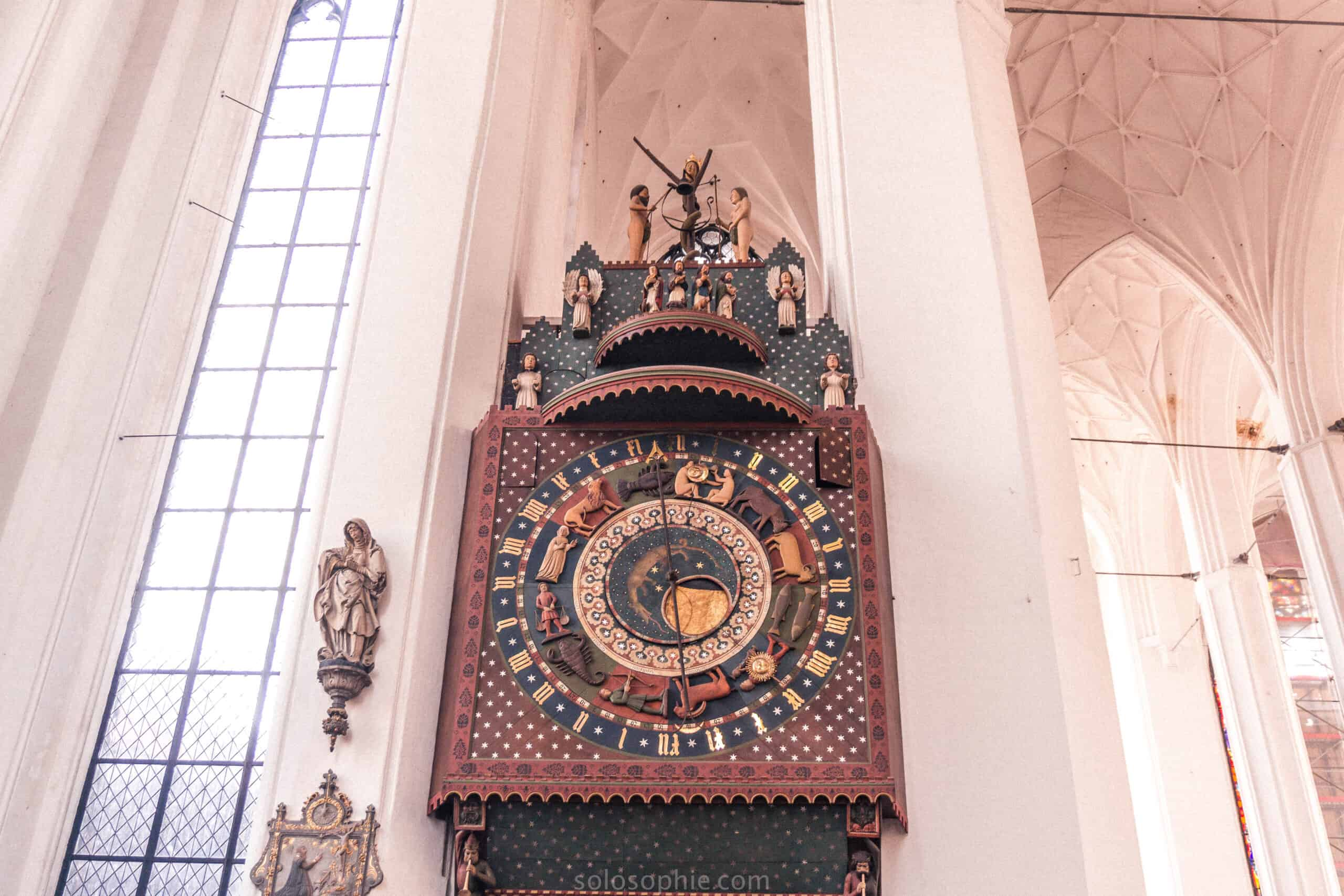 Gdansk astronomical clock: 15th-century wooden clock in Northern Poland