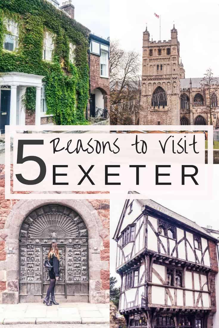 Some very good reasons to visit Exeter, capital of Devon in South West England. Exeter is one of the oldest towns in England and is filled with good food and plenty of historical things to do!