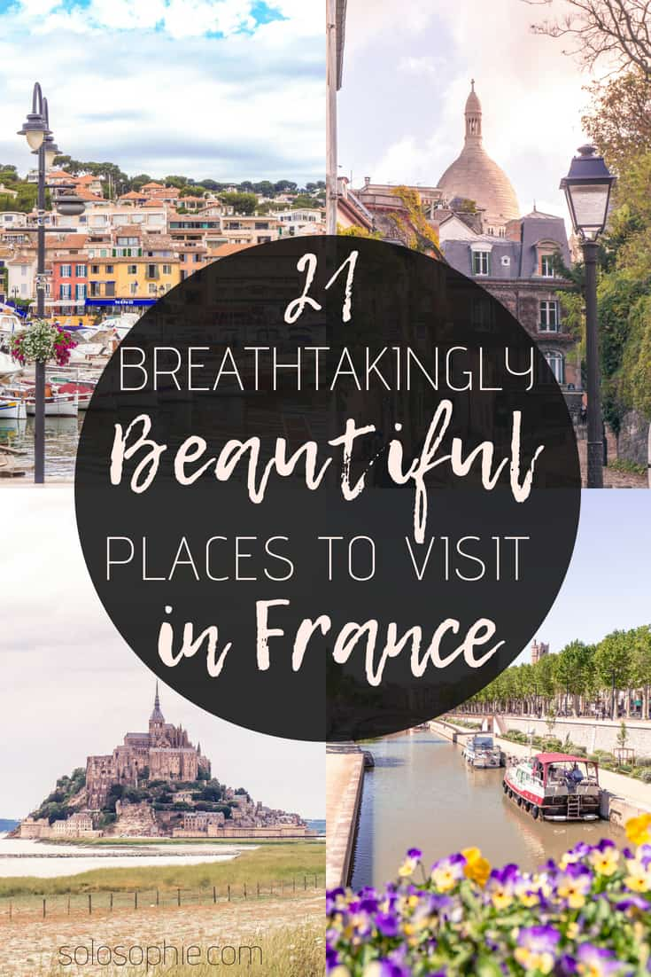 Stunning & beautiful places to visit in France: from glittering cities to natural wonders, there's a French destination for everyone to enjoy! Highlights include castles, beaches, and major cities.