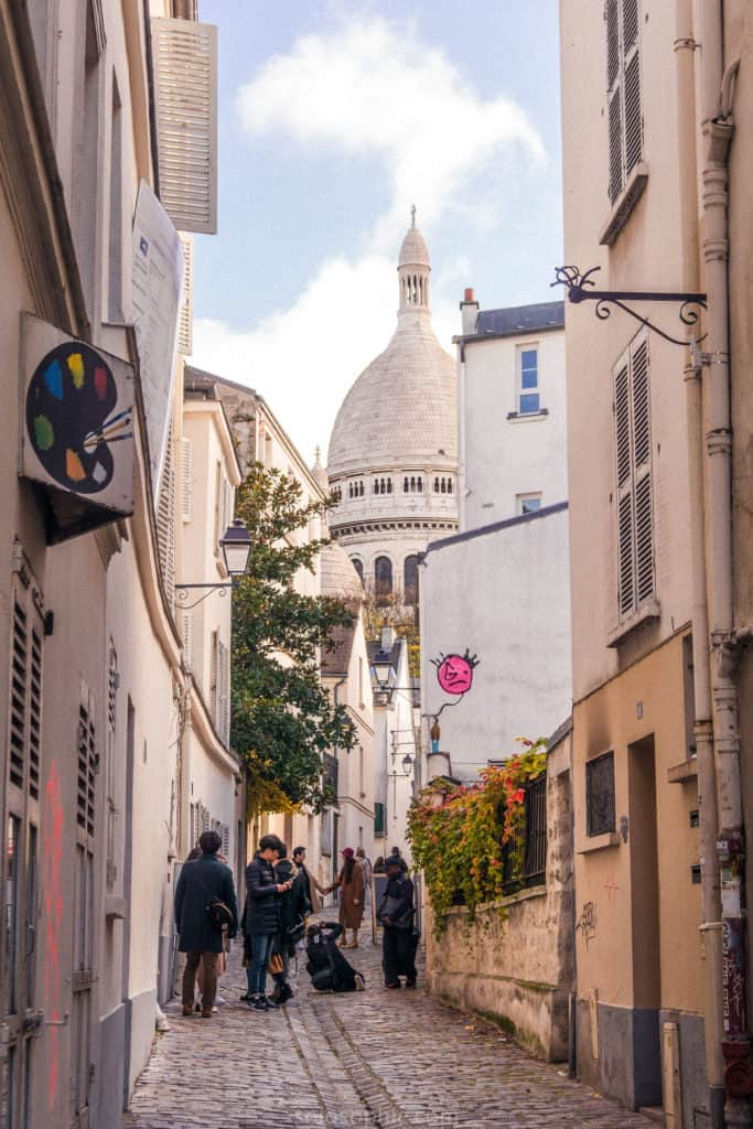 Rue Saint-Rustique: The Oldest Street in Montmartre, 18th arrondissement Paris, France. History and interesting things to see along a cobbled pedestrian lane in central Paris.