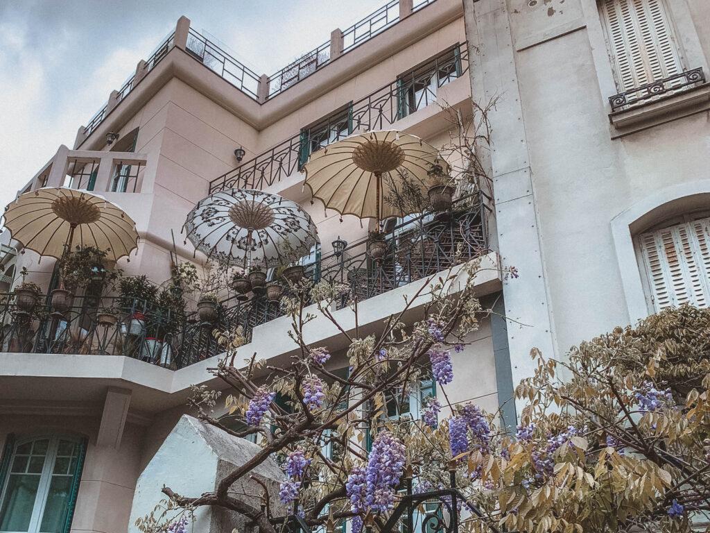 Rue Junot wisteria in Montmartre