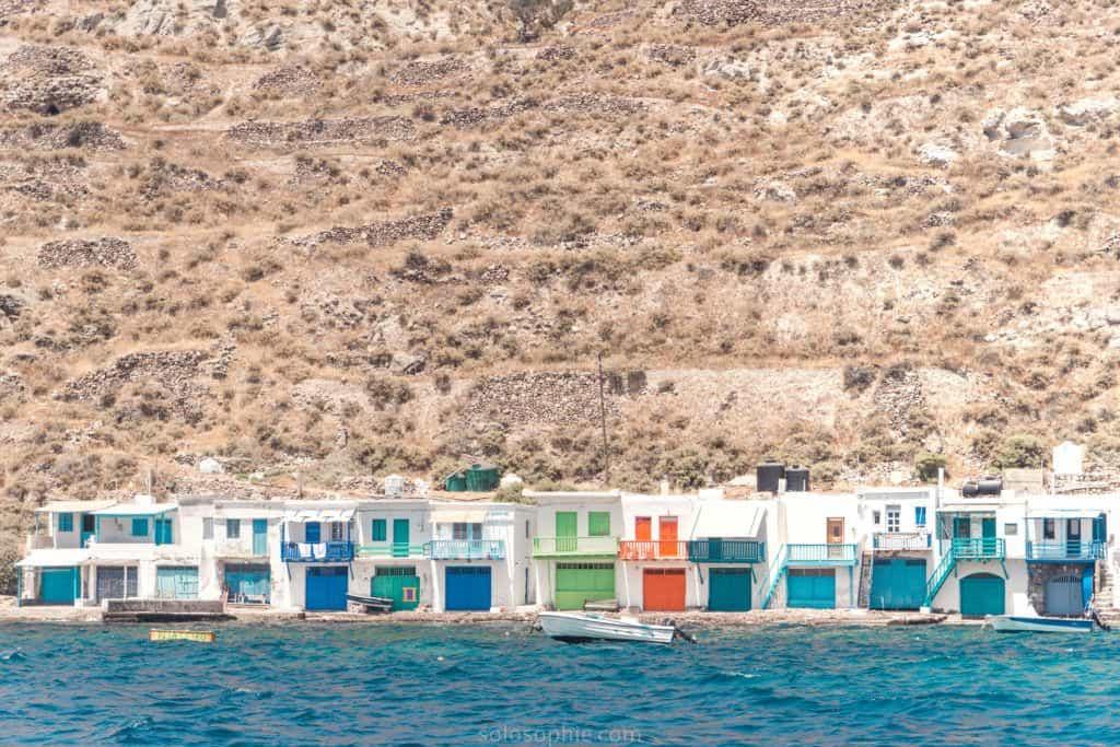 Klima, traditional fishing village, Aegean Sea, Milos, Greece