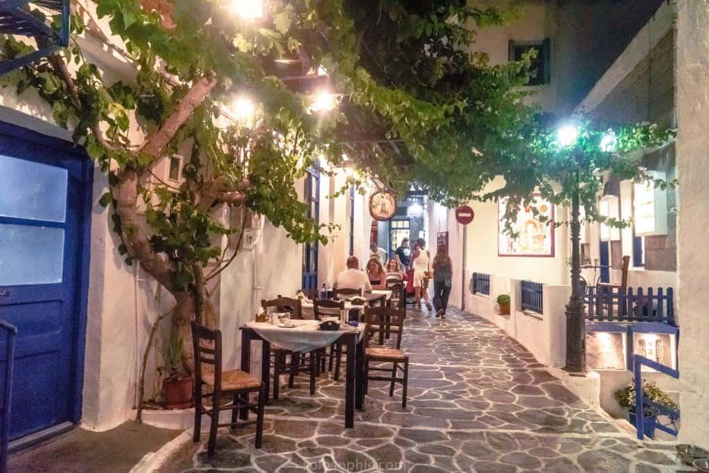Plaka, capital city of Milos, Greece