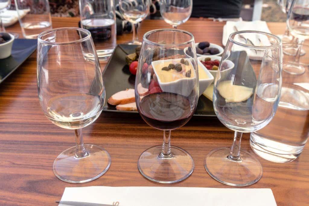 Venetsanos Winery: Visiting a Vineyard in Santorini, taste testing and visiting a wine museum in Santorini, Cyclades Islands, Aegean Sea, Greece