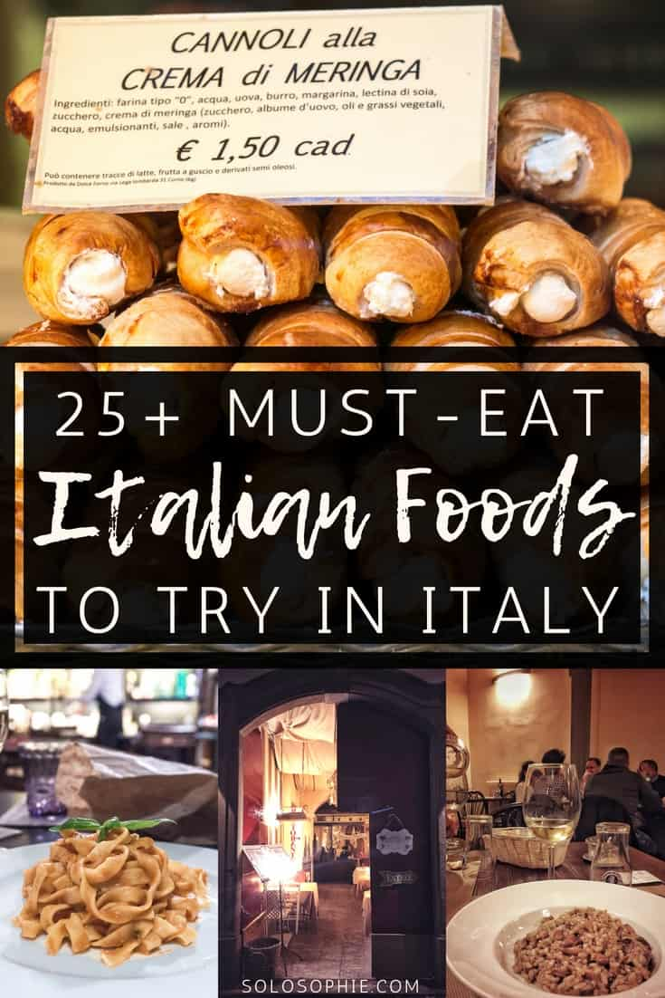 Food in Italy You MUST Eat While in Southern Europe (& Where to Find Authentic Italian food, dishes and cuisine): pizza, pasta, risotto, gelato, cannoli, etc.