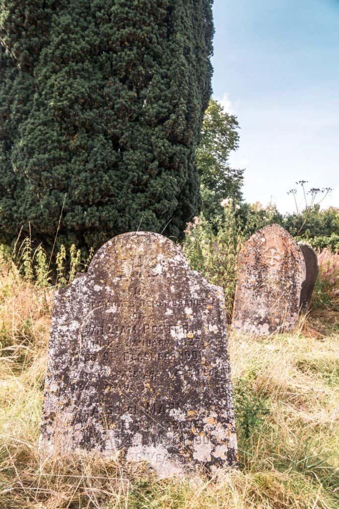Baptist Church gravestones, Imber, England
