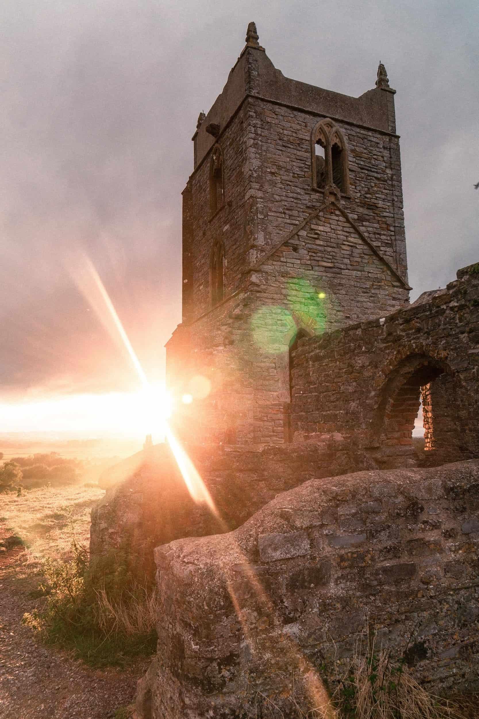 Burrow Mump: The 'Hill Hill' Church Ruins Alternative to Glastonbury Tor, Somerset Levels, Somerset, England