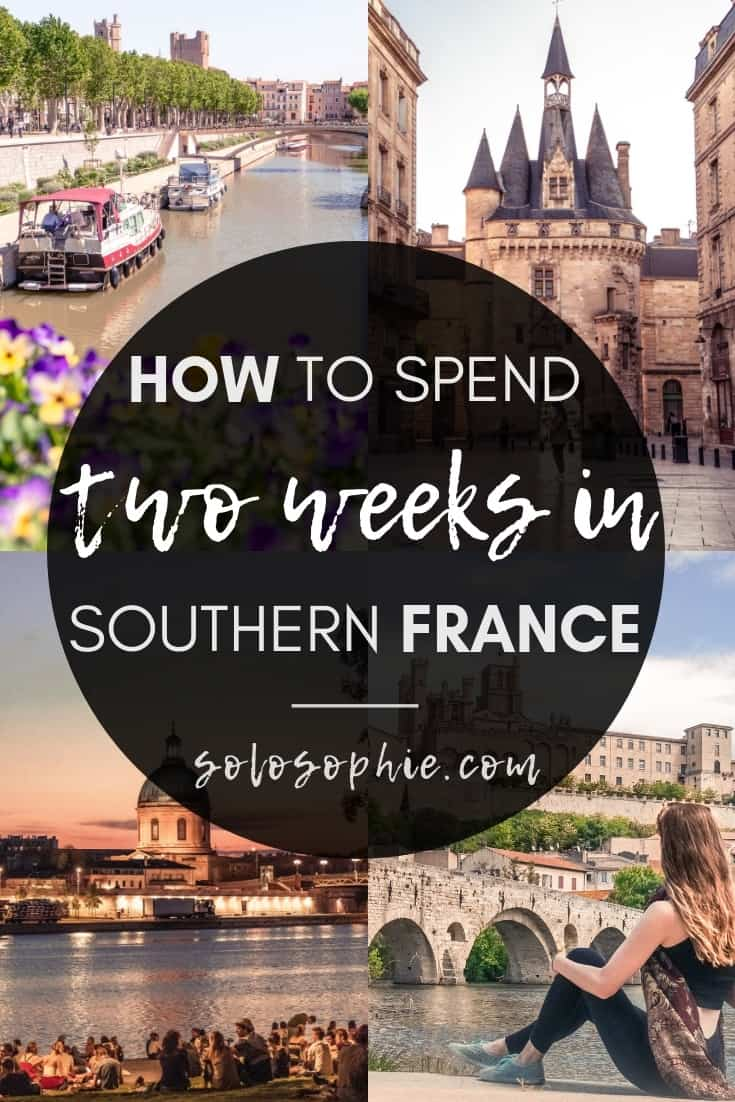 Here's how to spend 2 weeks in South West France. Limoges, Carcassonne, Saint-Emilion, Bordeaux, etc. The perfect itinerary for two weeks in Southern France!