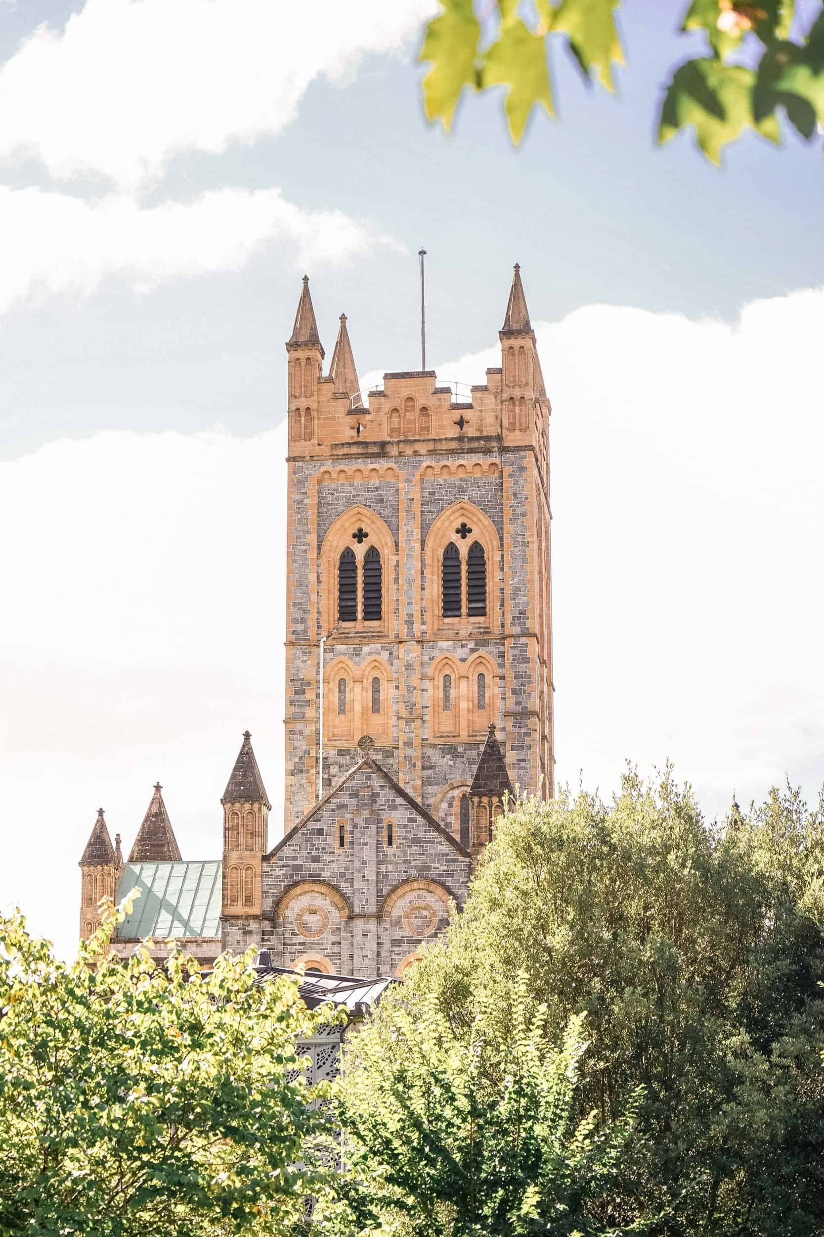Buckfast Abbey Tower, near Ashburton, Devon, England