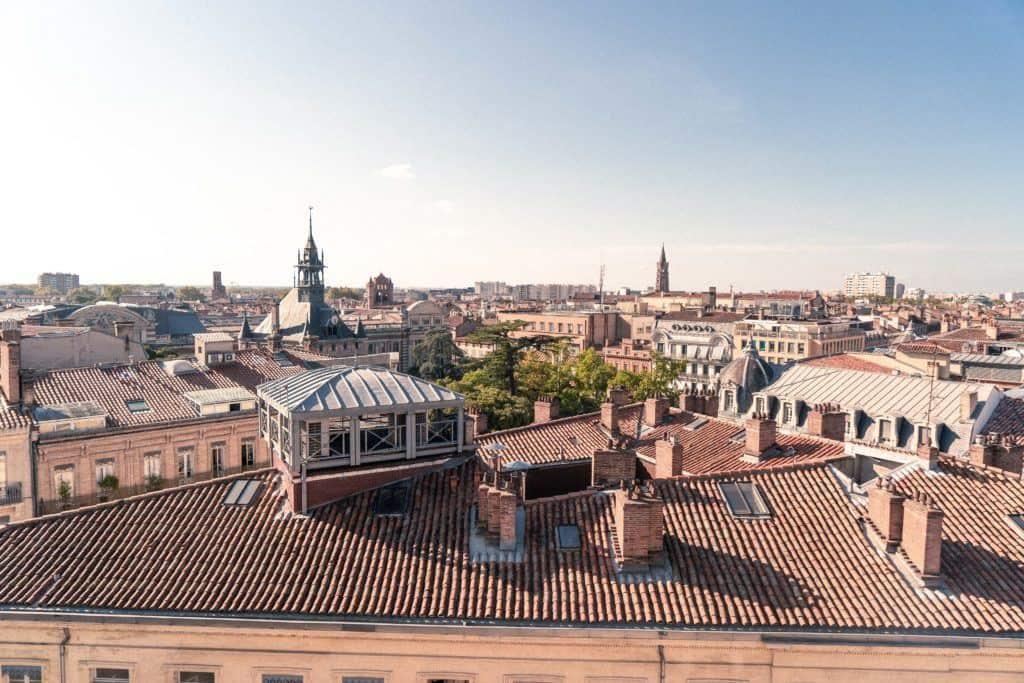 Galeries Lafayette Rooftop terrace, Toulouse, Occitanie, France