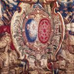 Char de Triomphe Portiere: The Louis XIV Tapestry from Versailles, France Hiding in an English Castle, Devon, England