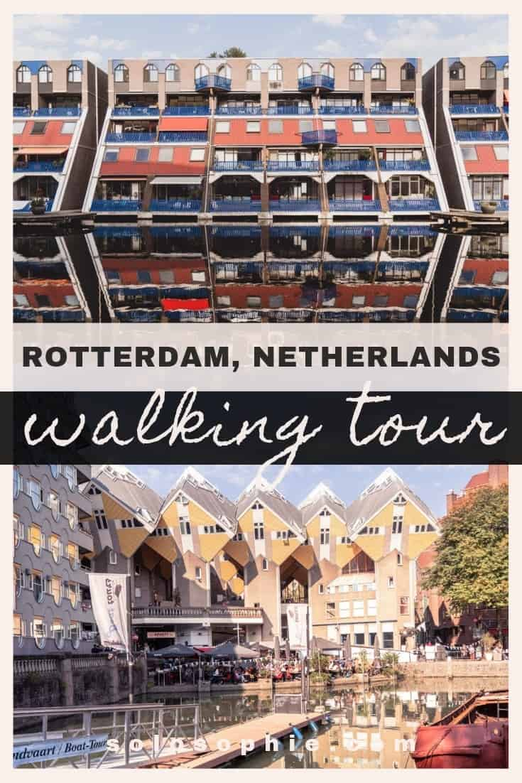 Free and self-guided Rotterdam walking tour. Looking for the best things to do in Rotterdam the Netherlands in one day? here's a guide!