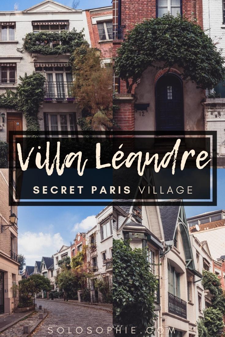 Villa Léandre: An English-Inspired Art-Deco Street in Montmartre, 18th arrondissement of Paris, France