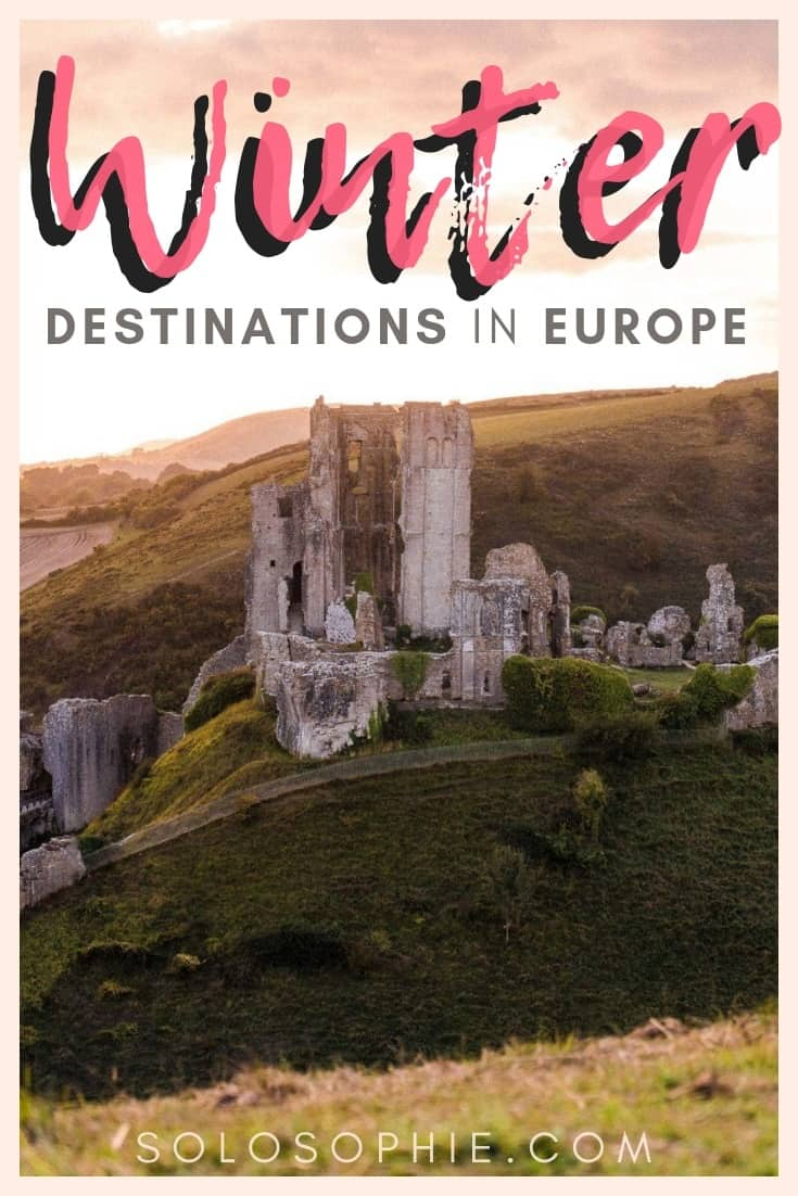 Winter in Europe: Here are 10+ magical winter destinations in Europe in which to live out your fairytale vacation. The best of Christmas markets, snowy destinations, and late summer sun revealed!