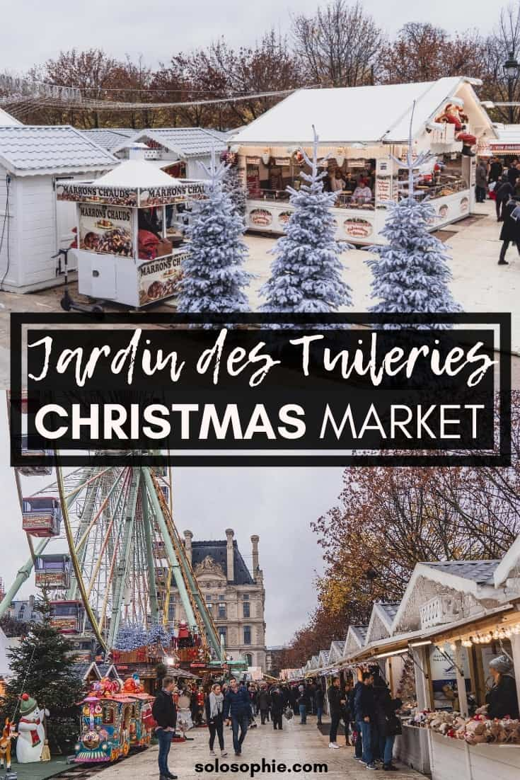 A guide to visiting the Jardin des Tuileries Christmas Market in Paris. La Magie de Noël aux Tuileries; where to shop festive gifts in the French capital of Paris, France